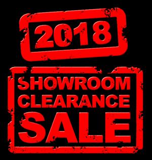 2018 Showroom Clearance
