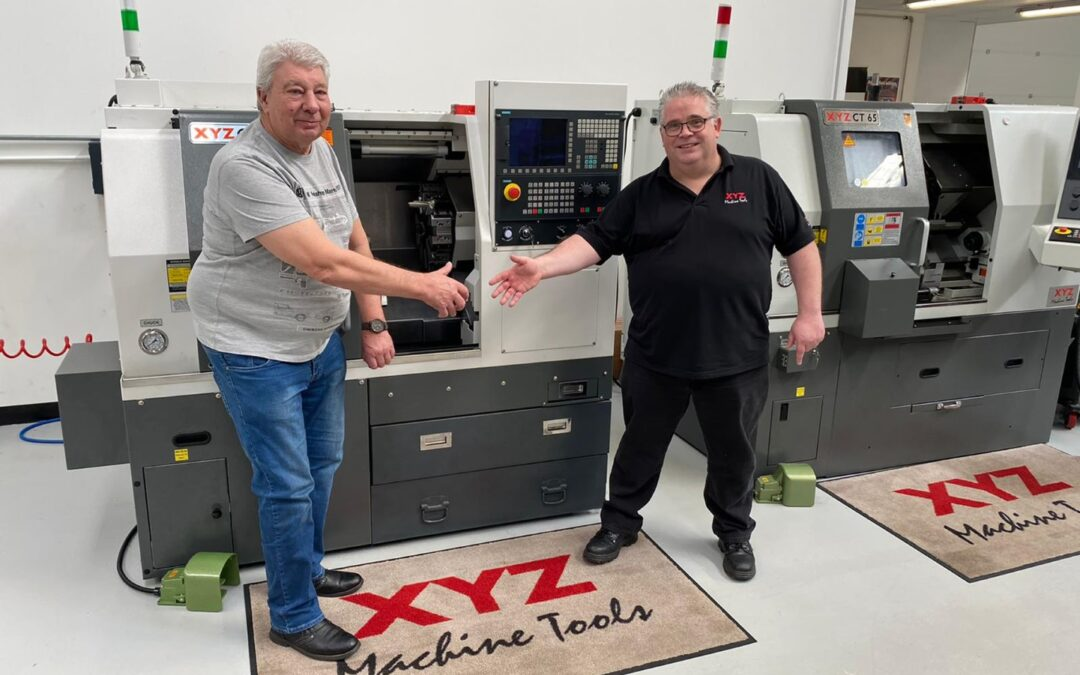 A socially distanced farewell for Alan after 26 years at XYZ Machine Tools