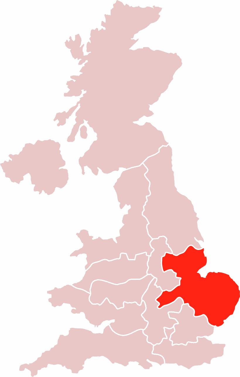 Map East Midlands