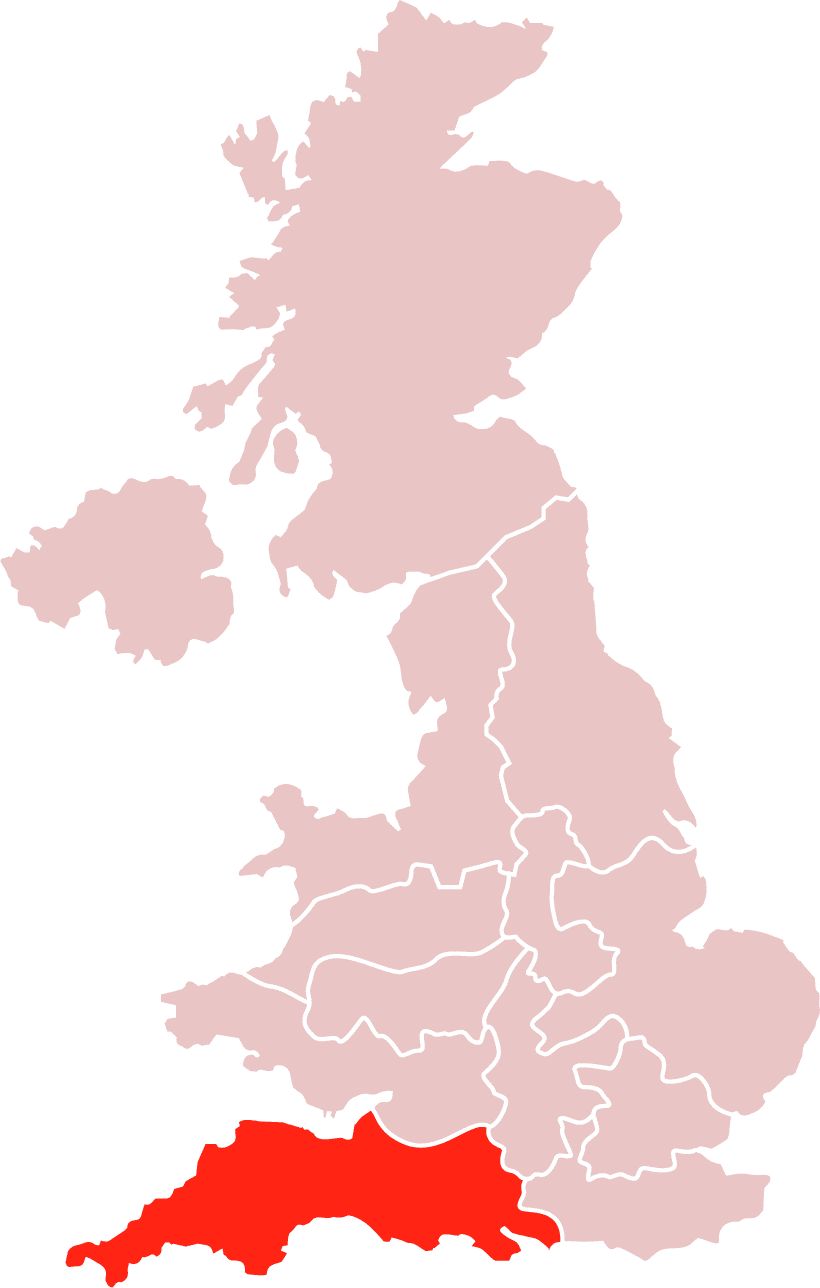 Map South West
