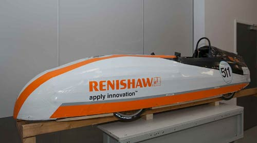 One of the finished Renishaw Greenpower race cars